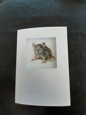 £3.99 • Buy Hand Painted Greetings Card Mouse