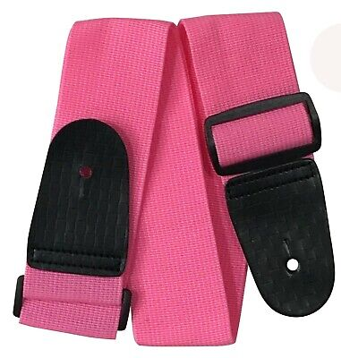 Guitar Strap PINK Children Kids 19 MUSIC 3/4 Harness Childs Budget Small Petite • 3.99£