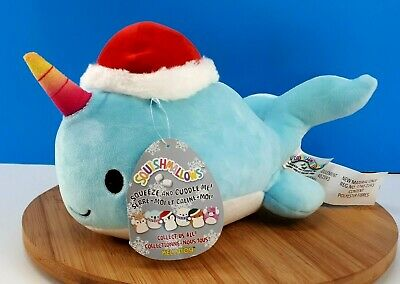 $ CDN39.90 • Buy Kellytoy Squishmallows Wally The Narwhal W/Christmas Hat 2019  8  Pillow Pet NEW