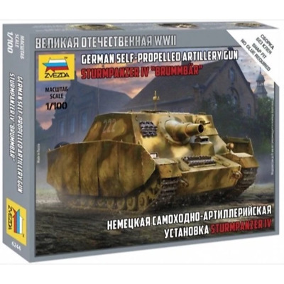 AU8.99 • Buy Zvezda 6244 1/100 Sturmpanzer IV Brummbar Plastic Model Kit Brand New