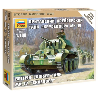 AU8.99 • Buy Zvezda 6227 1/100 British Crusader Tank Plastic Model Kit Brand New