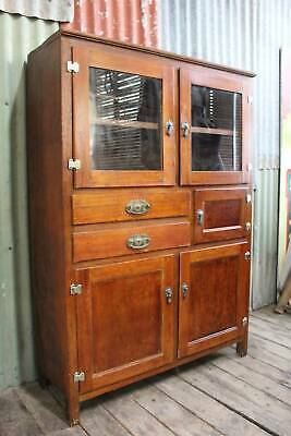 AU595 • Buy A Country Cottage Kitchen Oak Cabinet C.1950's *FREE DELIVERY *T&C's Apply
