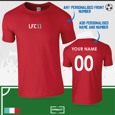 LFC Liverpool FC Personalised Football Fan T-Shirt Red The Reds *FREE DELIVERY • 12.99£