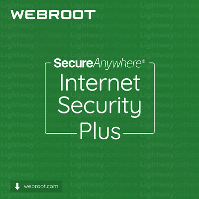 AU74.31 • Buy Webroot Internet Security Plus - 1 To 3 Years For 5 Devices (License Key)