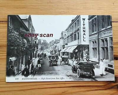 MAIDENHEAD High Street Showing Post Office    LL Postcard • 9.99£