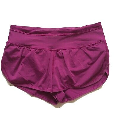 $ CDN63 • Buy Free Ship Lululemon Anew Shorts Sz 6 Magenta Gold Great Condition Lined Running