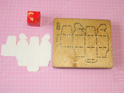 Accucut Wooden Die - Heart Box Closing Used Compatable With Sizzix Pro & Accucut • 7£