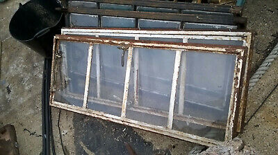 Vintage Metal 4 Panel Opening Window & Frame Crittall Window X 4 • 160£