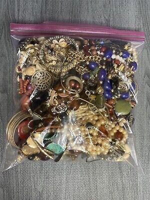 $ CDN52.71 • Buy Jewelry Lot! 5lbs Vintage To Now Costume Jewelry Untested Unsearched Lot F