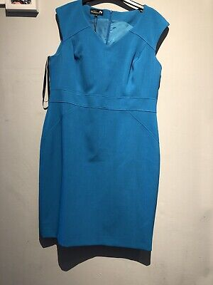 Womans Blue Dress And Jacket Size 18 • 14.99£