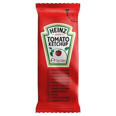 £3.95 • Buy Heinz Tomato Ketchup Sauce 11g Sachets Packed Lunch Work School Travel Portions