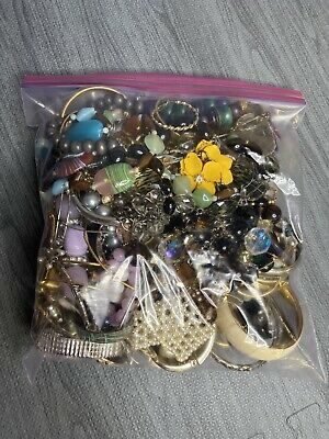 $ CDN52.71 • Buy Jewelry Lot! 5lbs Vintage To Now Costume Jewelry Untested Unsearched Lot S