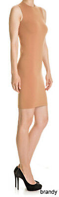 WOLFORD BILBAO SLEEVELESS BODYCON STRETCH DRESS RARE BRANDY SIZE - S Or M AVAIL • 69.99£