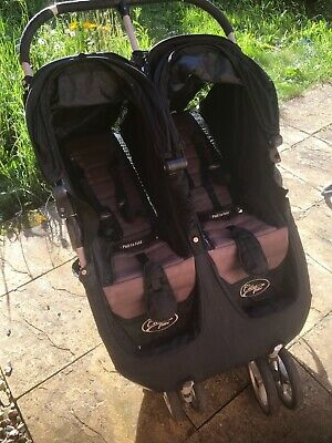 Baby Jogger City Mini Double Pushchair - Black • 85£