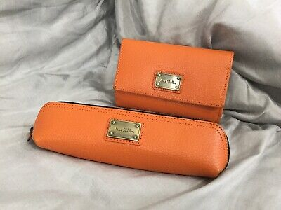 JANE SHILTON Genuine Leather Purse And Make Up Pouch Set • 5.99£