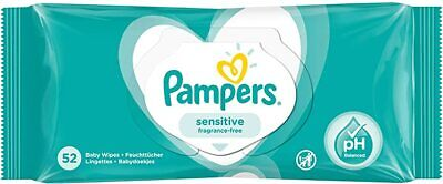 Pampers Sensitive Baby Wipes 52's • 3.60£