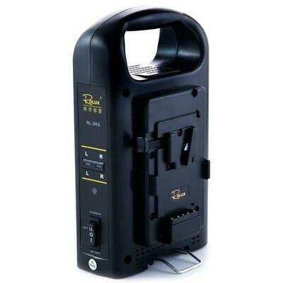 AU239.99 • Buy Rolux RL-2KS V-Lock Battery Charger For V-Mount Batteries
