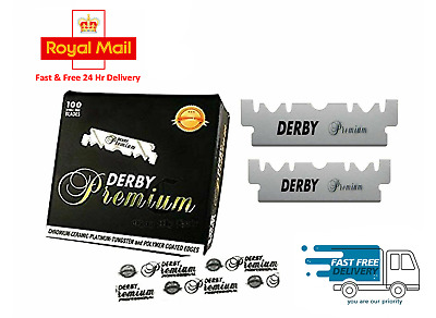 Derby Professional Premium Single Edge Razor Blades Barber Straight Throat Cut U • 4.58£