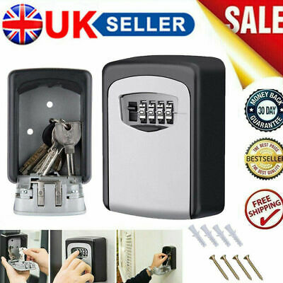 Outdoor High Security Wall Mounted Key Safe Box Code Lock Storage 4 Digit UK • 10.99£