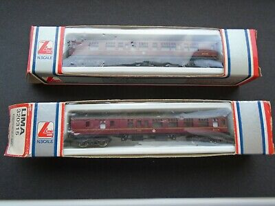 2 LIMA N GAUGE BR MAROON Mark 1 COACHES • 8£