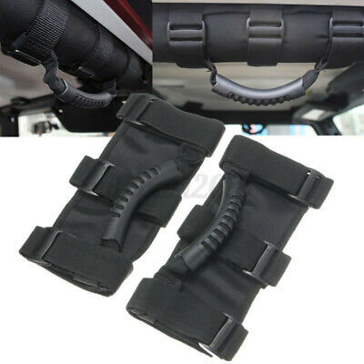 AU14.89 • Buy 2pcs Roll Bar Grab Handle Grip Strap On For Jeep Wrangler JK TJ YJ Sports Sahara