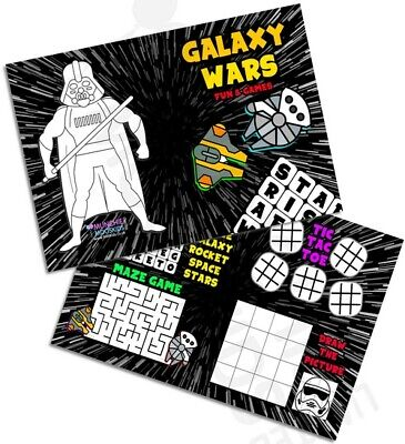 £2.16 • Buy Pack Of 12 Galaxy Wars Fun And Games Activity Sheets Party Bag Star Fillers