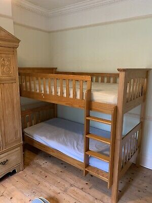 Marks & Spencer Single Pine Bunk Beds With Standard Single Mattresses. • 79.99£