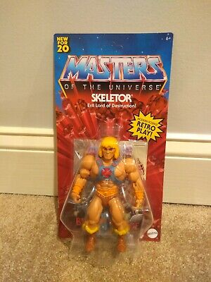 $100 • Buy **Rare** Masters Of The Universe Origins Skeletor Card ERROR W/He-man 5.5 Inch