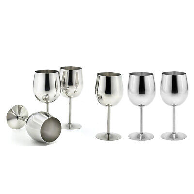 6x Stainless Steel Red Wine Glasses Goblets Drink Mug Keep Wine Cold Thermal • 32.47£