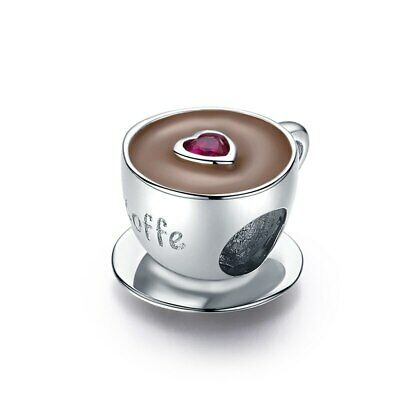 AU27 • Buy Coffee Cup S925 Sterling Silver Bead Charm By Pandora's Kings