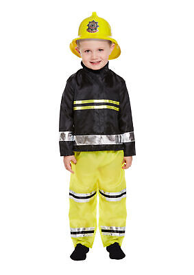 £8.99 • Buy Toddler Fireman Costume 3 Years - Boys Girls Kids Nativity Play Book Week Outfit