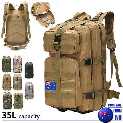 AU35.99 • Buy 35L Outdoor Military Tactical Rucksack Camping Hiking Backpack Sport Travel Bag