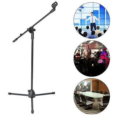 Adjustable Microphone Stand Boom Arm Holder & Mic Clip Stage Studio Party Tripod • 11.75£