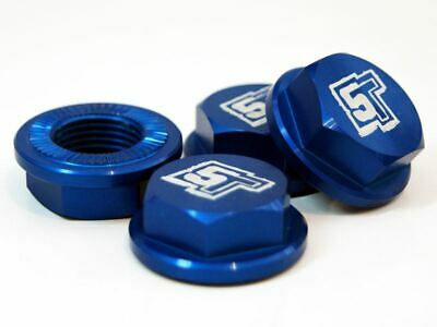 £32.99 • Buy UberRC Enclosed Wheel Nuts 5ive-T - X4 Blue For Losi 5ive-T X2 RC 1/5th Scale