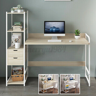 AU89.95 • Buy 4Tiers Bookshelf Office Computer Desk Study Laptop Table Home Workstation Drawer