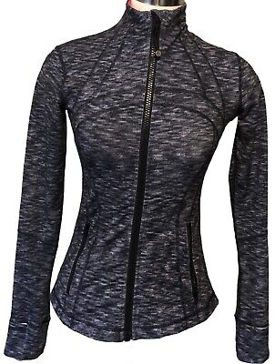 $ CDN89 • Buy Lululemon Size 4 Define Jacket Dramatic Static White Black Zip Up LS Run
