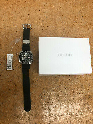 $ CDN261.66 • Buy Seiko Prospex Automatic Diver Silver/Black Silicone Strap Mens Watch SRP777