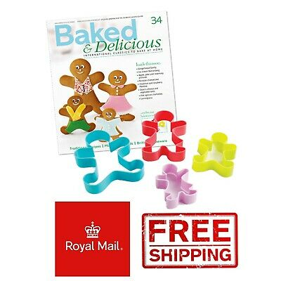 £2.49 • Buy 4 Set Gingerbread Family Cutters Biscuit Cookie Pastry Cutter Cake  Man Men