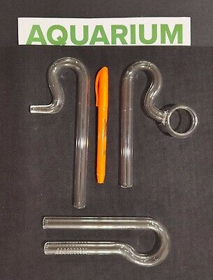 £27.80 • Buy Aquarium Glass Lily Pipe Jet/Spin Outflow Inflow 1/2  Glass Bubble Loop U Shape