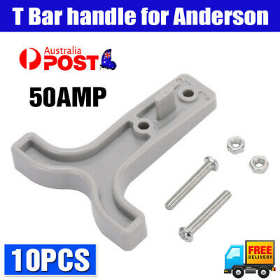 AU13.98 • Buy 10PCS Grey T Bar Handle For Anderson Style Plug Connectors Tool 50AMP 12-24V