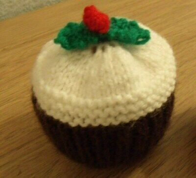 Hand Knitted Christmas Pudding Chocolate Orange Cover  Also Covers A Bath Bomb • 3.99£