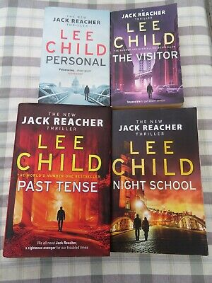 Lee Child: 4 Books -  Past Tense (HB) / Night School / The Visitor / Personal • 0.99£