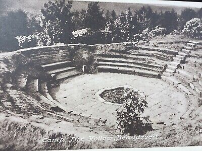 Old Rp Postcard Camp Fire Hollow Beaudesert Cannock Chase Staffordshire Prail • 1.50£