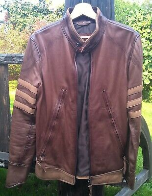 Soul Revolver Brown Leather Jacket - Origins / Wolverine - (XS, Extra Small) • 150£