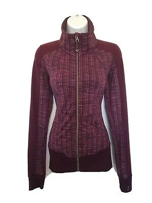 $ CDN60 • Buy Free Shipping Lululemon In Stride Jacket Full Zip Sz 4 Purple Ziggy Wee Plum