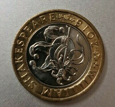 £2 Two Pound Coin WILLIAM SHAKESPEARE JESTER • 3.50£