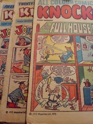 Knockout Comic X 3 &  Nipper Issue 8 Buster Comic Library 5 • 3.90£