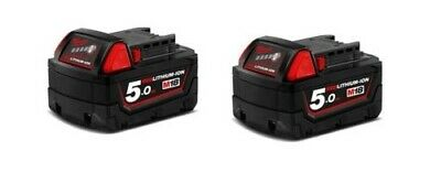 AU199 • Buy Genuine Milwaukee M18B5 2-Pack 18V 5.0Ah RED LITHIUM Batteries BATTERY AU STOCK