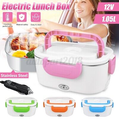 AU25.39 • Buy 🔥 Electric Heated Car Plug Heating Travel Lunch Box Bento Warmer Food Container