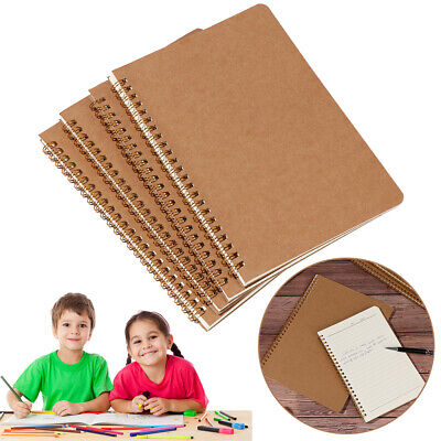 AU9.90 • Buy B5 Kraft Paper Coil Notebook 16K Workbooks Notepad Retro Car Line Writing Pads~